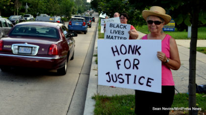 In solidarity of the Black Lives Matter movement, WES held signs of support on 16th Street outside of the building.